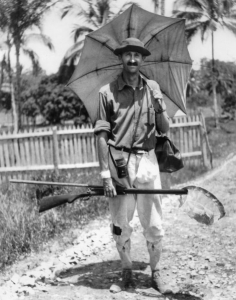 Beebe op expeditie in Brits Guiana, 1917